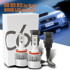 H8 H9 H11 Ice Blue 8000K COB LED Headlight Conversion Kit For High Low Beam DRL