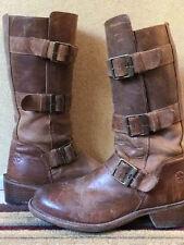 DR. DOC MARTENS Vintage Brown Leather Mid Calf Boots US 7 / UK 5
