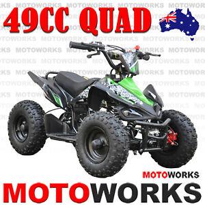 49CC QUAD ATV Bike Motoworks sports Pocket Gokart 4 Wheeler mini Buggy kids GREE