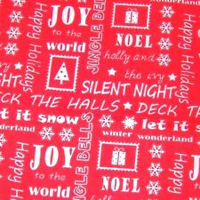 christmas craft fabric  remnant material quilting  1 metre