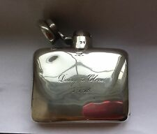 Antique solid silver hip flask, Deakin & Francis 1917