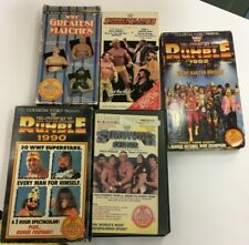 LOT OF 5 WRESTLING VHS TAPES BY COLISEUM VIDEO LATE 80'S EARLY 90'S