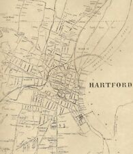Hartford  CT 1869 Detailed Street Maps with Businesses and Homeowners