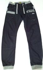 New Mens Eto Jeans EM517 Cuffed Jogger Jeans Grey Size W28 L31 , 28 Regular