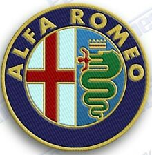"ALFA ROMEO   iron on embroidery patch - 2.5"" x 2.5"" INCH AUTO CAR PATCHES CREST"