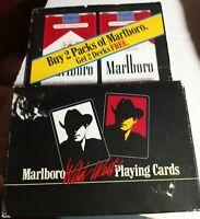 "2 DECKS 1991 MARLBORO ""WILD WEST"" PLAYING CARDS NEW IN BOX"