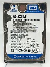 "Western Digital Scorpio Blue 250GB Internal 5400RPM 2.5"" (WD2500BEVT) Hard Drive"