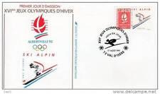Jeux olympiques d´ Albertville 1992 - Ski alpin - 17/08/1991- Val d´Isère