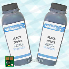 2PK Toner CLP510K Black Refill Kit for Samsung CLP510N