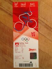 LONDON 2012 TICKET TRACK CYCLING HOY & TROTT GOLD 07 AUG 1600 B43 *MINT*