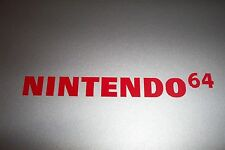 Nintendo 64 N64 Sticker Decal Logo WHITE 13""