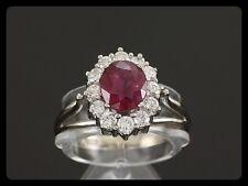 Klassischer Rubin Brillant Ring ca. 1,78ct  585 /- Weißgold