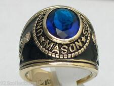 12X10 mm United States September Blue Montana Mason Masonic Men's Ring Size 7-15