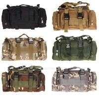 Outdoor Military Tactical Waist Pack  Molle Camping Hiking Pouch Bag #gib