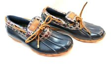 Sperry Topsider Womens Dockside Navy Blue All Weather Waterproof Shoes Size 7.5
