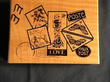 FAUX POST BY DAWN HOUSER RUBBER STAMP