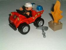 Lego Duplo 5603 Fire Car  100% complete - unboxed set