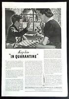 1939 Metropolitan Life Insurance Met Life Original Vintage Print Ad Quarantine
