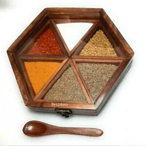 Wood Spices Box Dry Spice Box Container Spice Storage Kitchenware by Brildeco