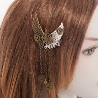 1pc Victorian Gear Wing Hair Clip Women Goth Punk Vintage Lolita Lady Headwear