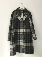 Cos -- Double Breasted Checked Coat - Wool - Multi - New with tag - Size 14