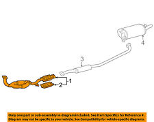 TOYOTA OEM 97-02 Camry 3.0L-V6 Exhaust System-Front Pipe 174100A090