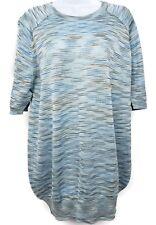M Missoni Ski Blue Long Sleeve Knit Sweater Women's Size L