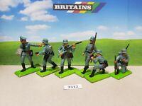 Britains Deetail WW2 German Infantry Series 2 set of 6 (lot 3312)