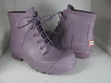 sz 6/ 37 New HUNTER Original Lace Up purple/ lilac short rain boots
