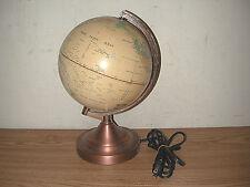 "VINTAGE FUCASHUN 8"" DIAMETER WORLD GLOBE 25 WATT PORTABLE LAMP, NEEDS FIXED"