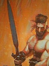 "New ListingOriginal Gay Male Interest Acrylic/Mixed Media Painting-""Conan the Barbarian"""