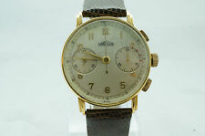Vintage ANGELUS Cal 215 18k Solid Gold Chronograph Mens Watch Excellent 1940's