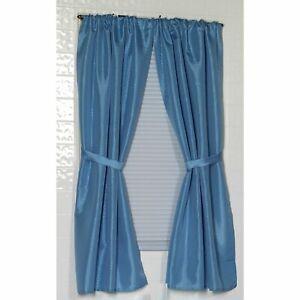 "Carnation ""Lauren"" Diamond-Piqued 100% Polyester Window Curtain in Light Blue"