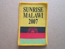Sunrise Malawi 2007 Cloth Patch Badge Boy Scouts Scouting L4K B