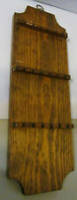 Wooden Wall Spoon Rack - Holds 18 Souvenir Spoons - Vintage