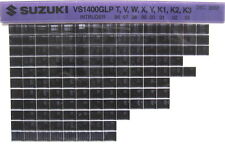 Suzuki VS1400GLP Intruder 96 97 98 99 00 01 02 03 Part Catalog Microfiche s466a