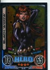 Marvel Hero Attax Series 2 Foil Base Card #18 Black Widow