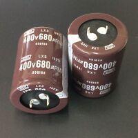 1pcs 680uF 400V Japan NCC Nippon LXS 35x45mm 400V680uF Snap-in Capacitor