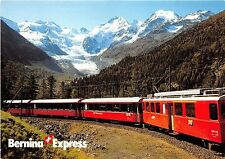 BG33357 der bernina express morteratsch switzerland train railway