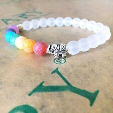 7 Chakra Healing Balance Prayer Beaded Bracelets Lava Yoga Reiki Stones Pray