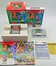 Pokemon Pocket Monsters Stadium with Transfer Pak 64GB Boxed + Manual N64 Japan