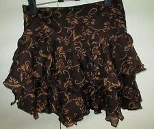 Ladies Interpretations Rayon Skirt size M India Party Short Layers Ruffles