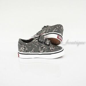 Defect No Box Vans Toddler Atwood V Shoes Canvas Cowboy Grey Black Multi Size 5