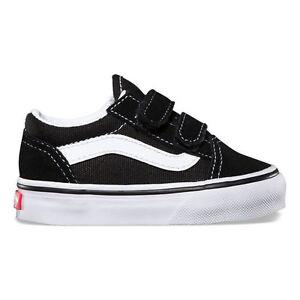 Vans Toddler Old Skool V Black/White VN000D3YBLK