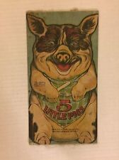 VINTAGE 5 Little Pigs Cloth Book - Saalfield 1910