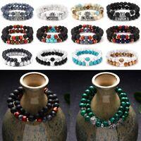 New Fashion Charm Natural Stone Gemstone Beads Unisex Bracelets Bangle Jewelry