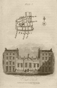 City of London Thames Street St Paul's Churchyard & School EC4M EC4V 1817 map