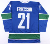 Loui Eriksson Signed Vancouver Canucks Ice Hockey Jersey  Beckett COA Authentic