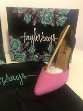 Taylor Says New Boxed High Heels Pink Snake PU Size 4 Stand Out Funky Uk