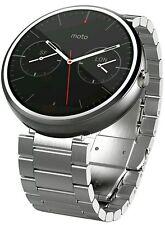 WOW! Motorola Moto 360 Smart Watch, Silver Metal Link, 1st Generation
